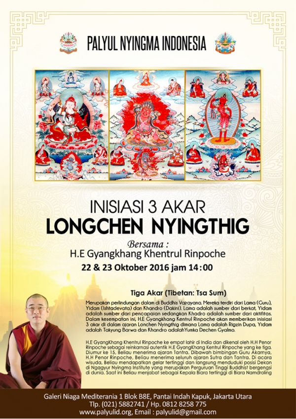 Empowerment of 3 Roots Longchen Nyingthig